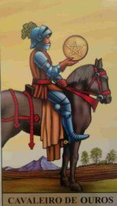 Significado e conselho da Carta de Tarô Cavaleiro de Ouros