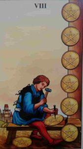 Significado e conselho da Carta de Tarô Oito de Ouros