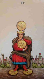 Significado e conselho da Carta de Tarô Quatro de Ouros