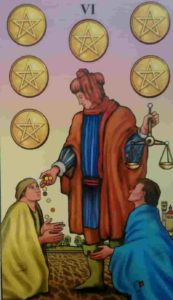 Significado e conselho da Carta de Tarô Seis de Ouros