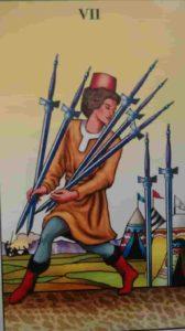Conselho e Significado Carta de Tarot Sete de Espadas