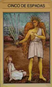 Conselho e Significado Carta de Tarô Cinco de Espadas