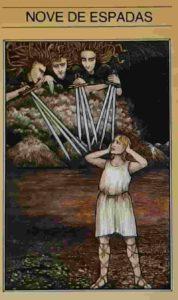 Conselho e Significado Carta de Tarot Nove de Espadas