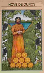 Significado e conselho da Carta de Tarô Nove de Ouros