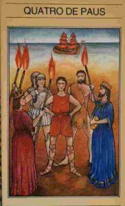 Significado e Conselho Tarot Quatro de Paus