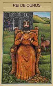 Significado e conselho da Carta de Tarô Rei de Ouros