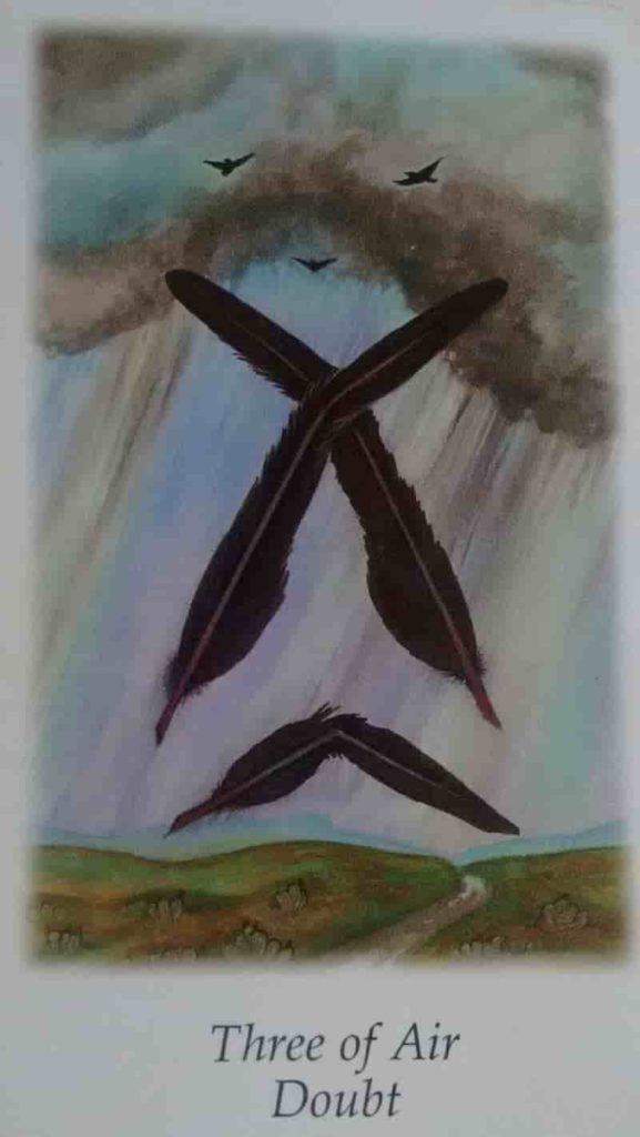 Conselho e Significado Carta de Tarô  Três de Espadas
